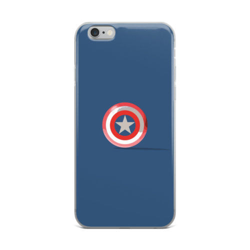 captain america shield minimal mobile cover