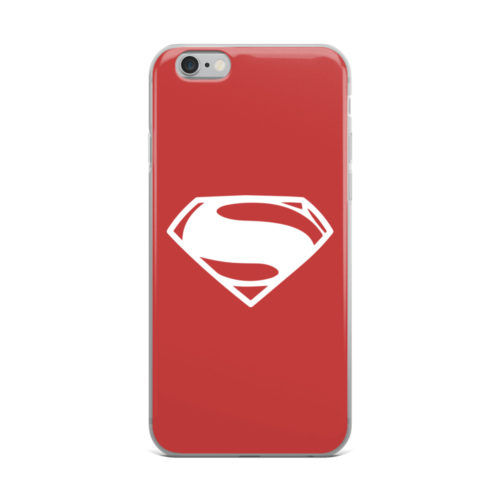 superman red minimalist logo mobile cover