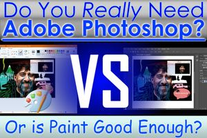 """You """"Actually"""" Need Photoshop, But is Paint Better Value?"""