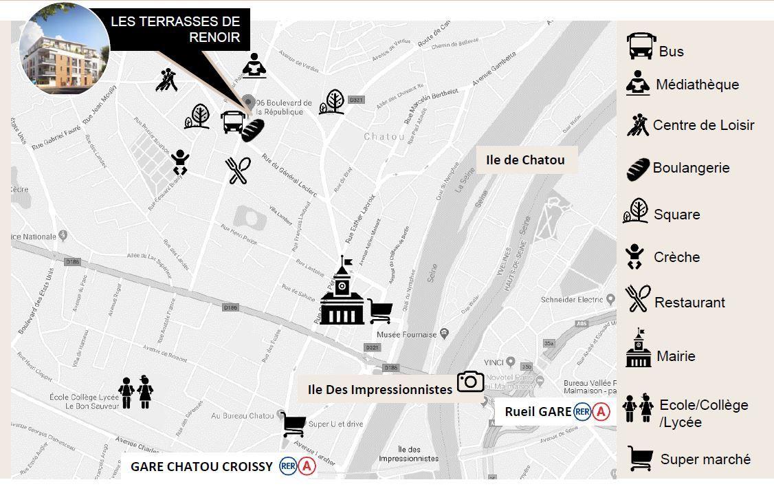 Chatou 78 Cœur de ville- Nue propriété - Cheval Blanc Patrimoine