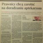 """""""Rzeczpospolita"""" o naszym portalu dla aptek"""