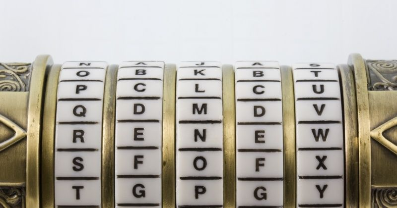 renew set up as a password to combination puzzle box (cryptex)