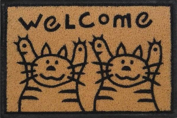 tapete de entrada welcome