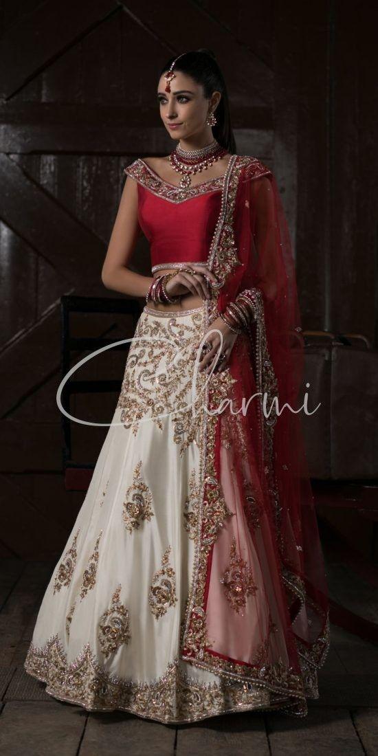 Red & White Bridal Lehenga UK