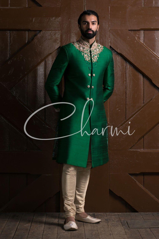 Emerald Green Indian Wedding Sherwani