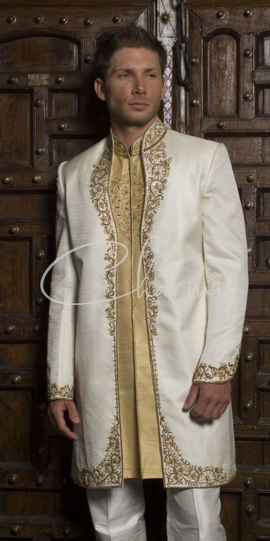 Ivory & Gold 2 Piece Indian Wedding Outfit
