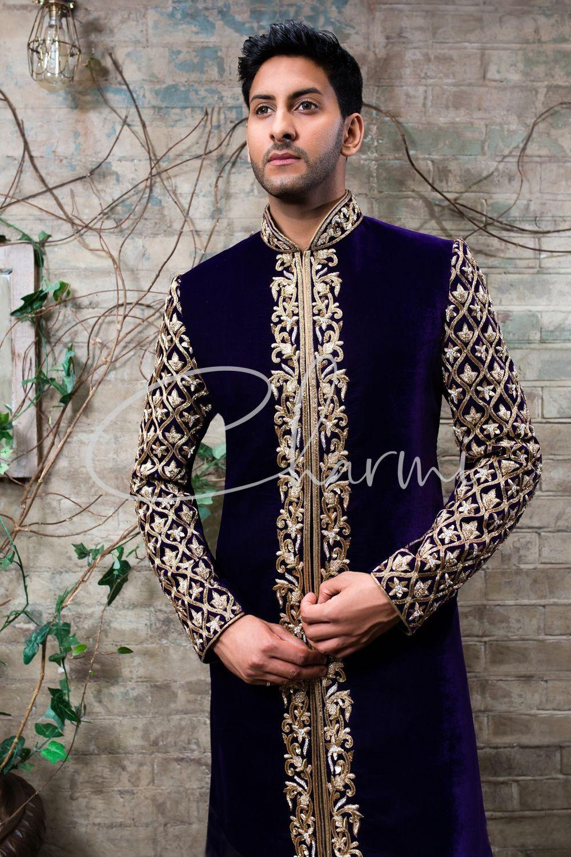 Traditional Velvet Sherwani for Groom