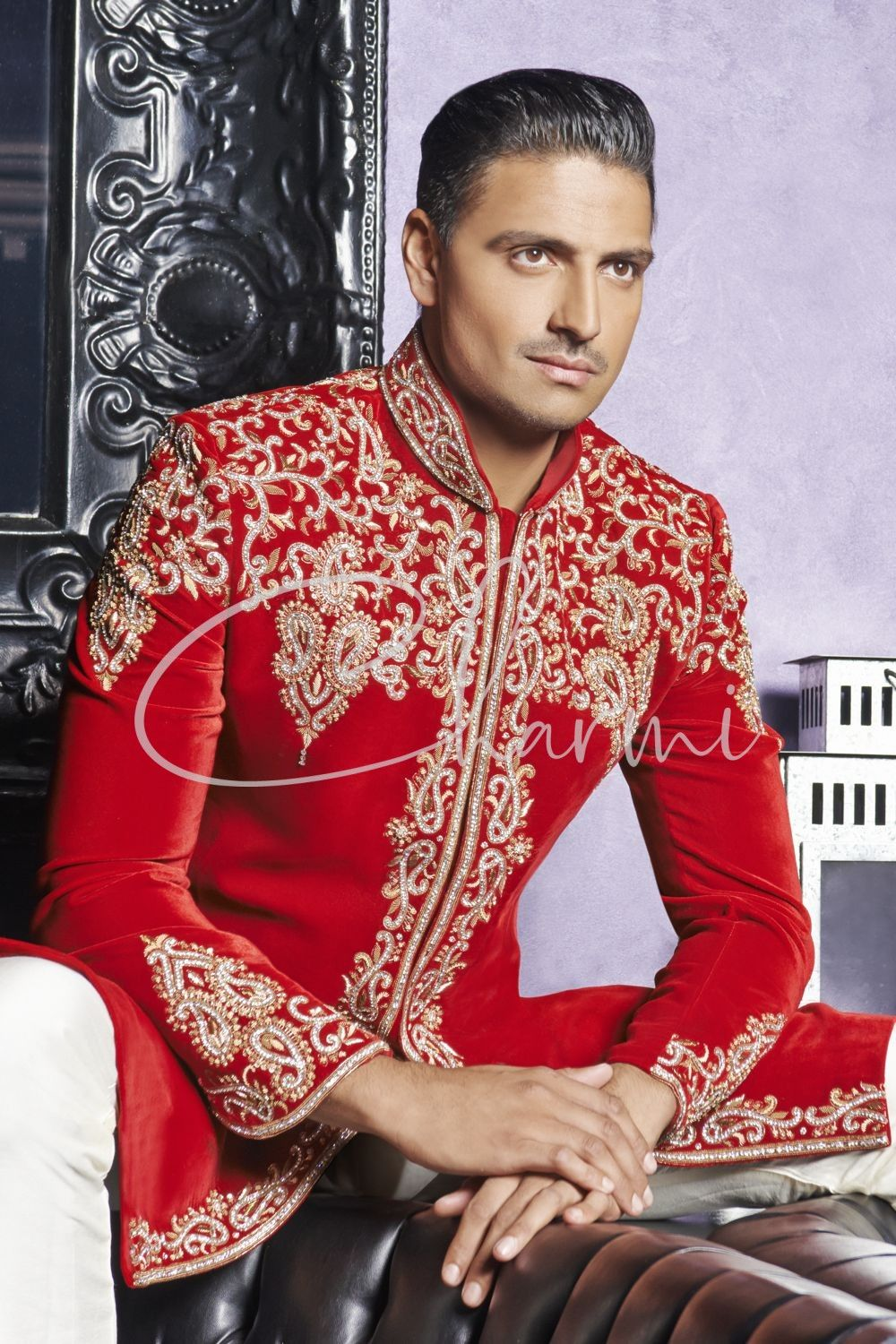 Red Traditional Designer Wedding Suits for Groom