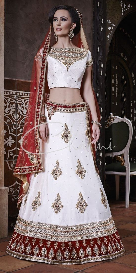 White Color Lehenga for Indian Wedding
