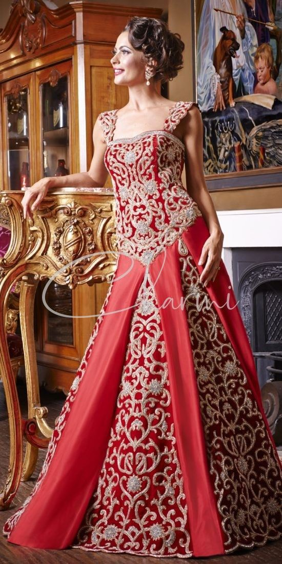 Long Indian Wedding Red Dress in UK