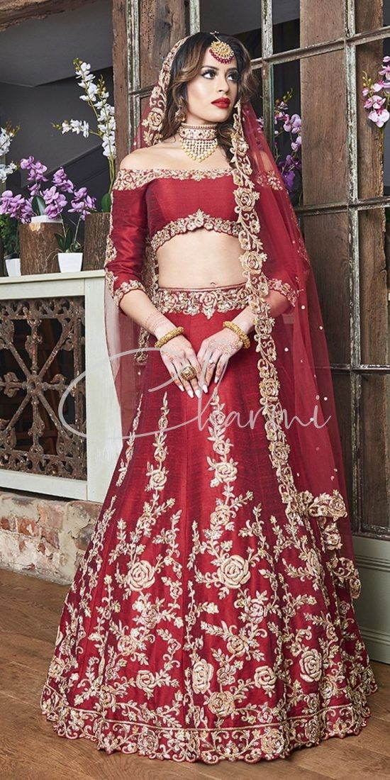 Blood Red Lehenga for Reception