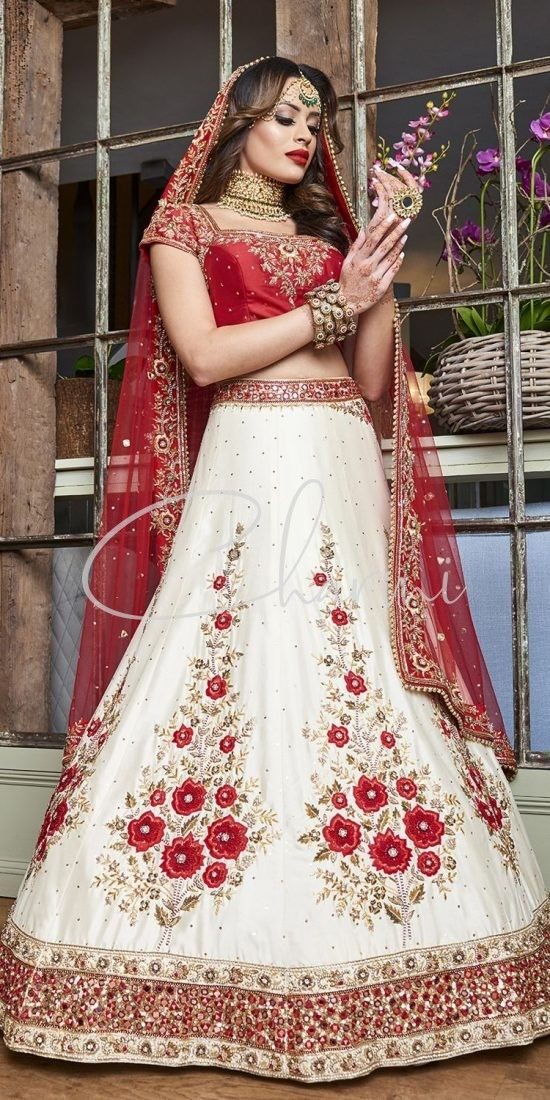 Red & White Indian Wedding Dresses