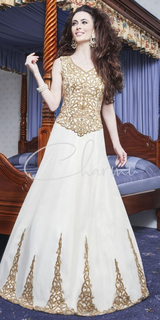 Ivory & Gold Registry Wedding Gown