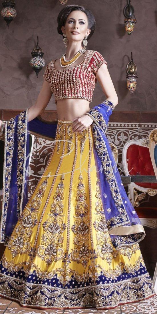 Yellow & Pink Sangeet Outfit - Indian Wedding Dress