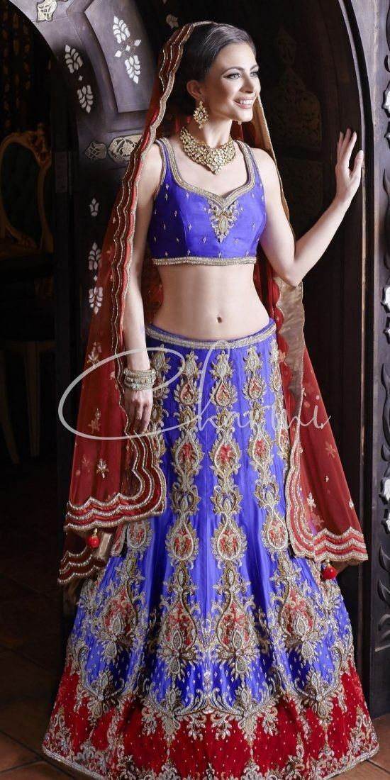 Purple & Red Sangeet Outfit