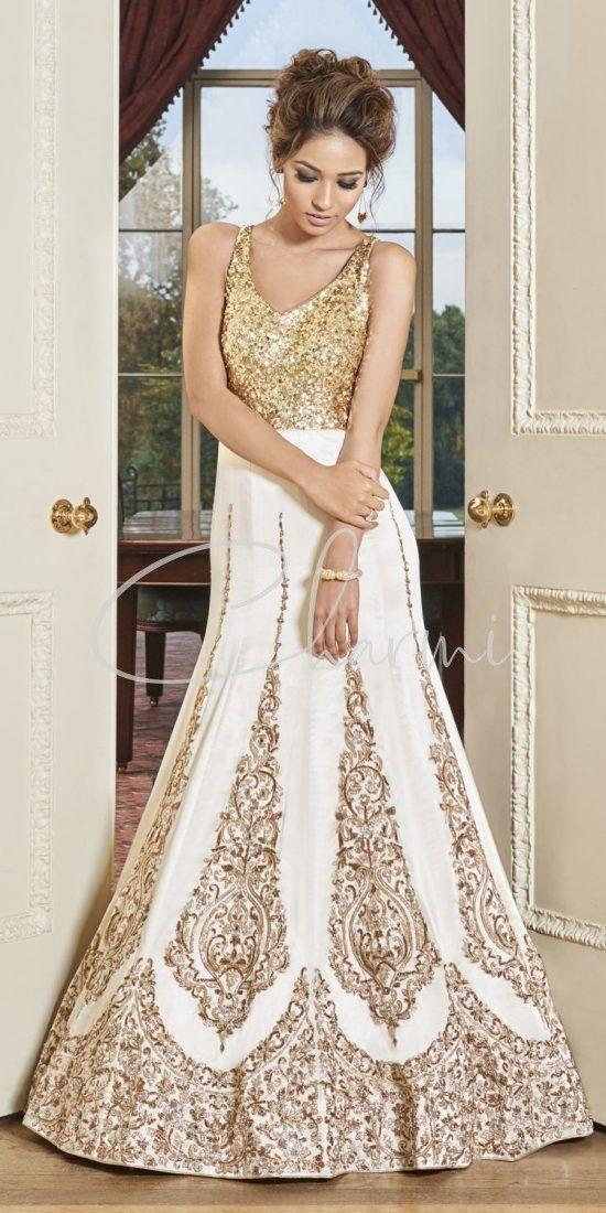 Ivory Satin Silk Registry Wedding Dress