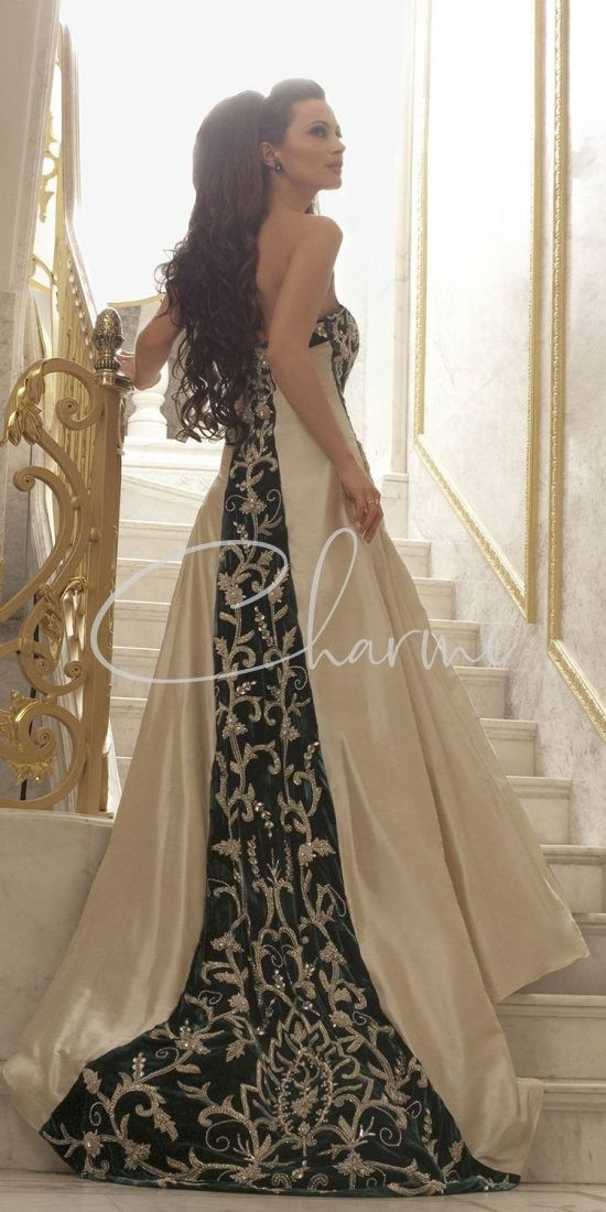Ivory & Teal Indian Wedding Gowns