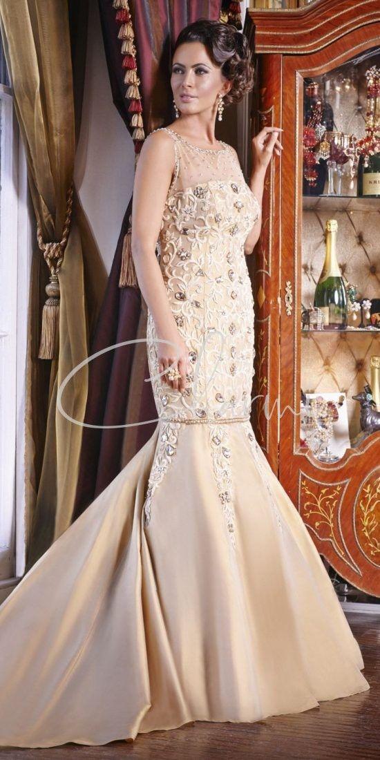 Gold Reception Wedding Dress in Uk