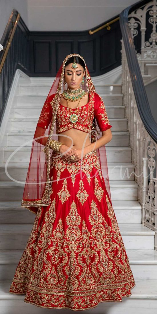 Indian Bridal Outfits - Red Lehenga