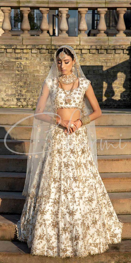 Indian Bridal Wear - Ivory Lehenga
