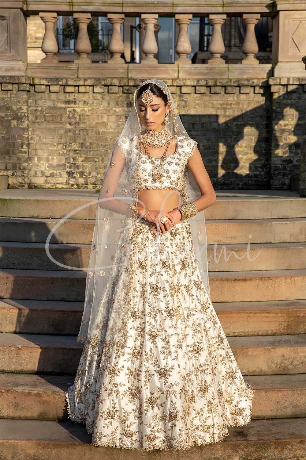 Indian Bridal Wear - Ivory Lehenga