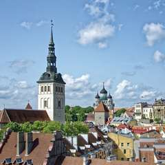 Tallinn Roofs Estonia