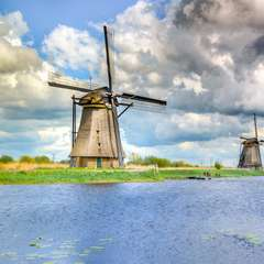 Kinderdijk Dutch Windmills Netherlands