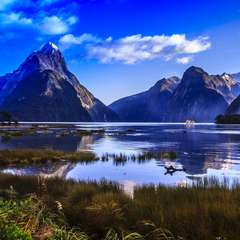 New Zealand Mitre Peak Mountain