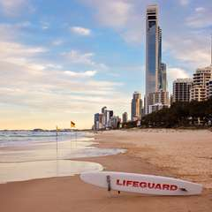 Surfers Paradise Gold Coast Lifeguard Flags