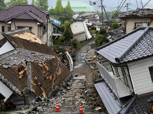 Buildings destroyed by natural disaster