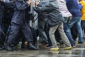 Protestors pushback against police brutality