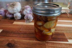 Fermented Garlic Honey with Garlic Braid