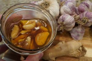 Fermented Garlic Ginger Honey