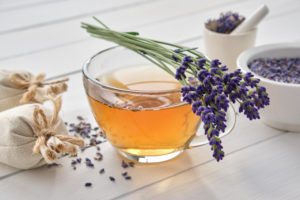 Tea made from lavender for mead