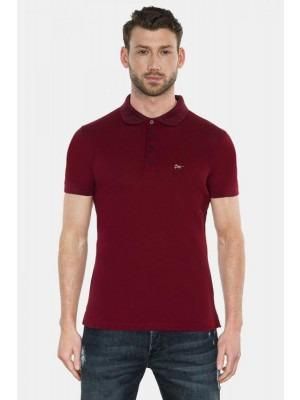 3601Dimoral___Polo_Collar_Embroidery_Red