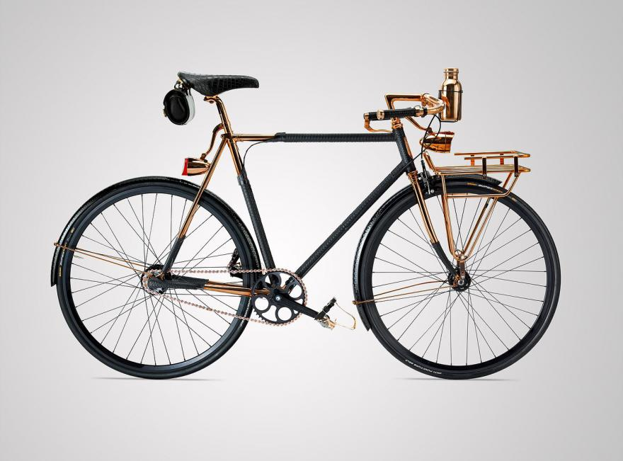 Bike A: Wheelmen copper-plated, python leather bicycle - £30,000