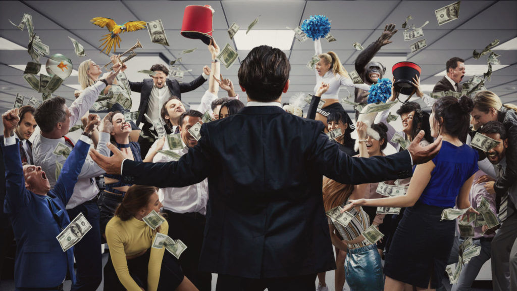 Wolf of Wall Street image to show the feeling of a successful inbound marketing campaign