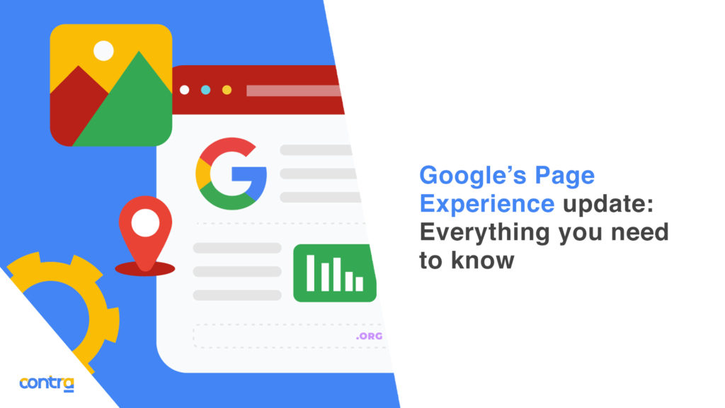 an image showing google's page experience update