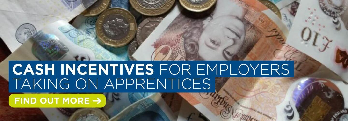 Cash incentives for employers taking on apprentices