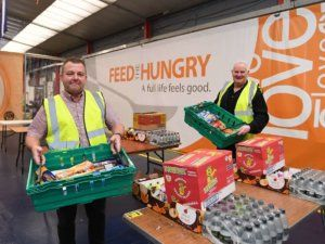 A city project supporting young people with employment and life skills has been boosted by a generous food donation