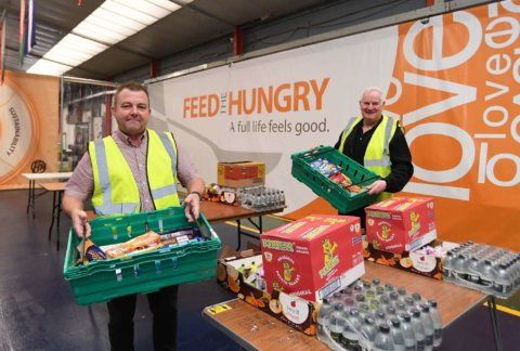 Feed the Hungry. The Halo Centre in Binley, Coventry