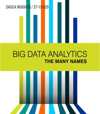 Big Data Analytics- The Many Names