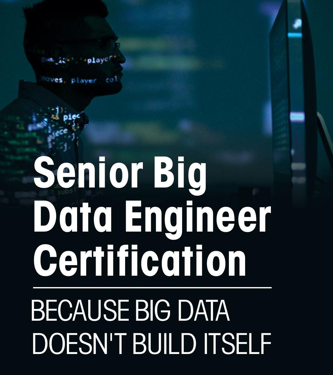 Senior Big Data Engineer Certification - Because Big Data Doesn't Build Itself