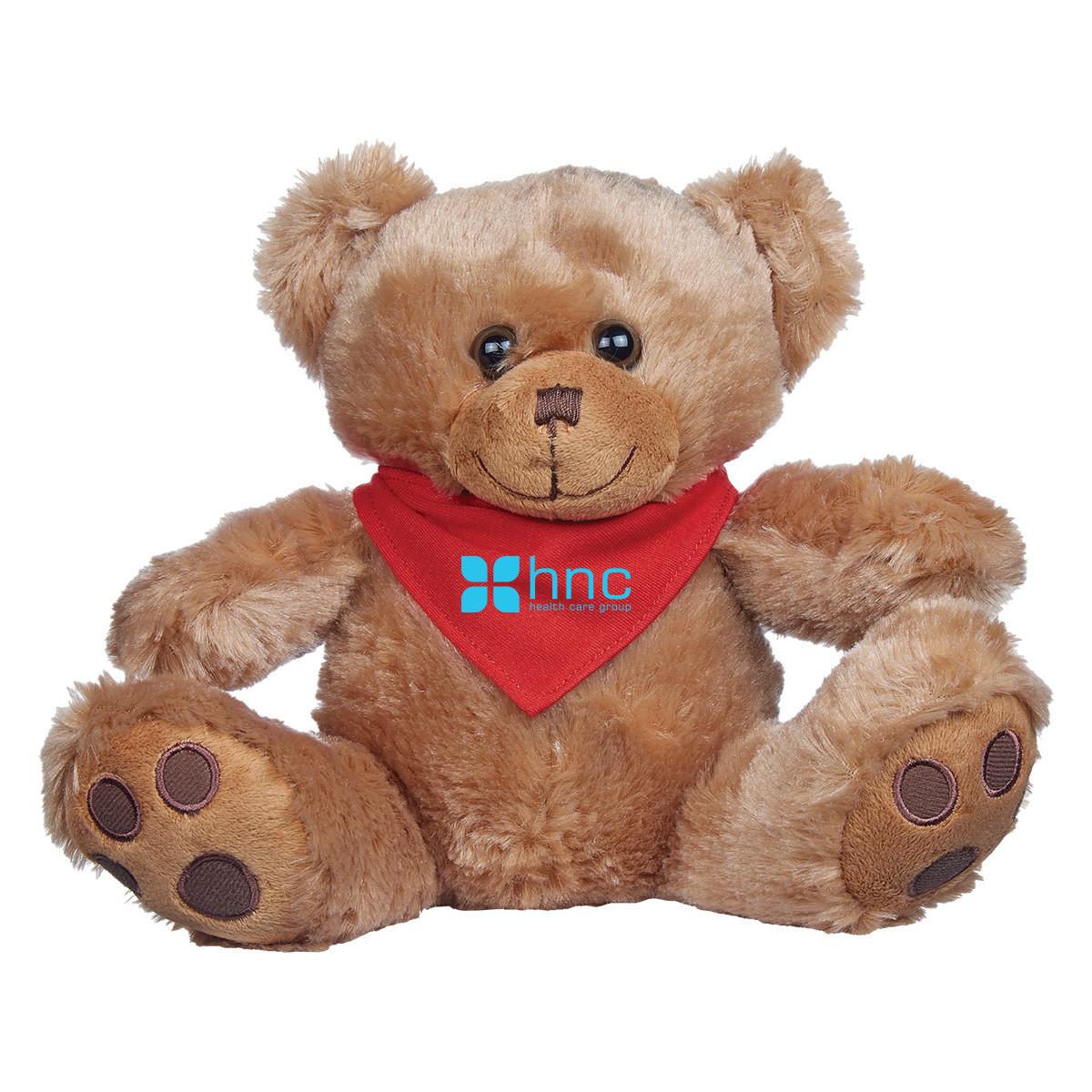 "8  ½"" Brown Big Paw Bear Bandana"