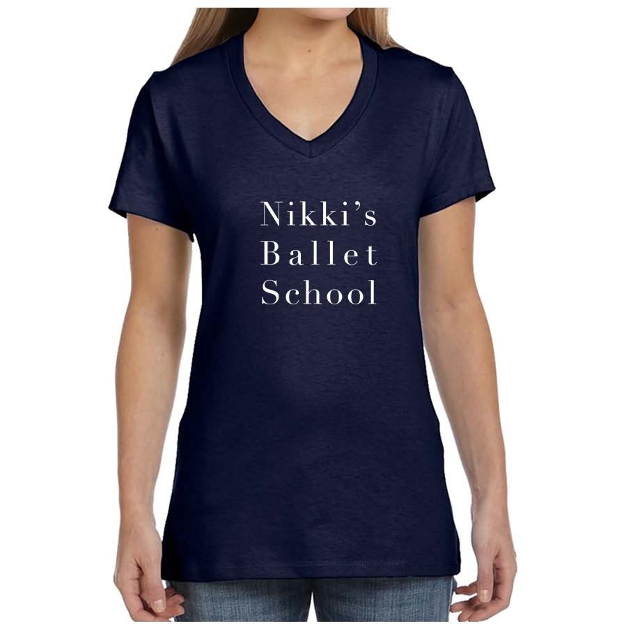 Hanes ® Ladies' Nano-T ® Cotton V-Neck T-Shirt