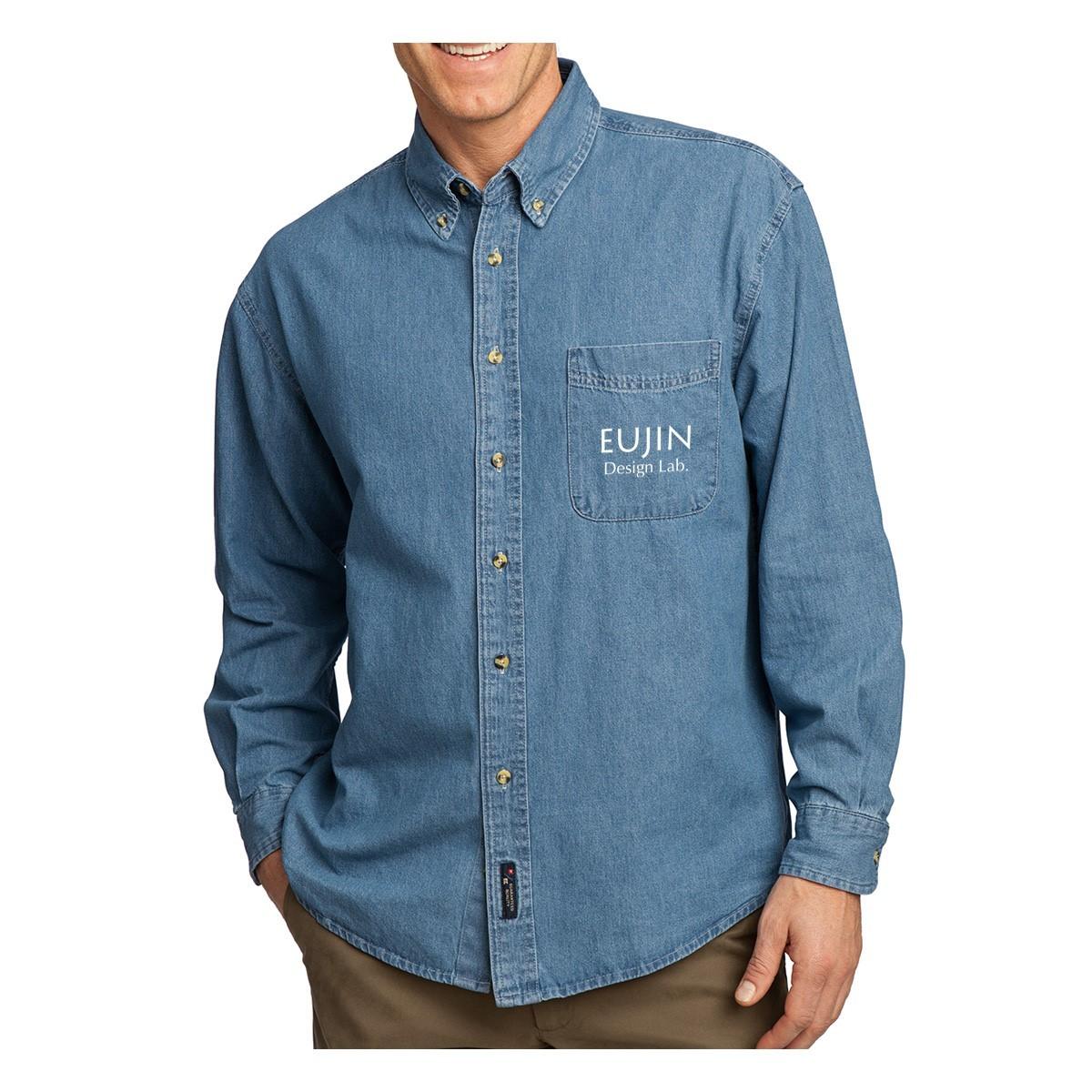 Port & Company ® Long Sleeve Value Denim Shirt