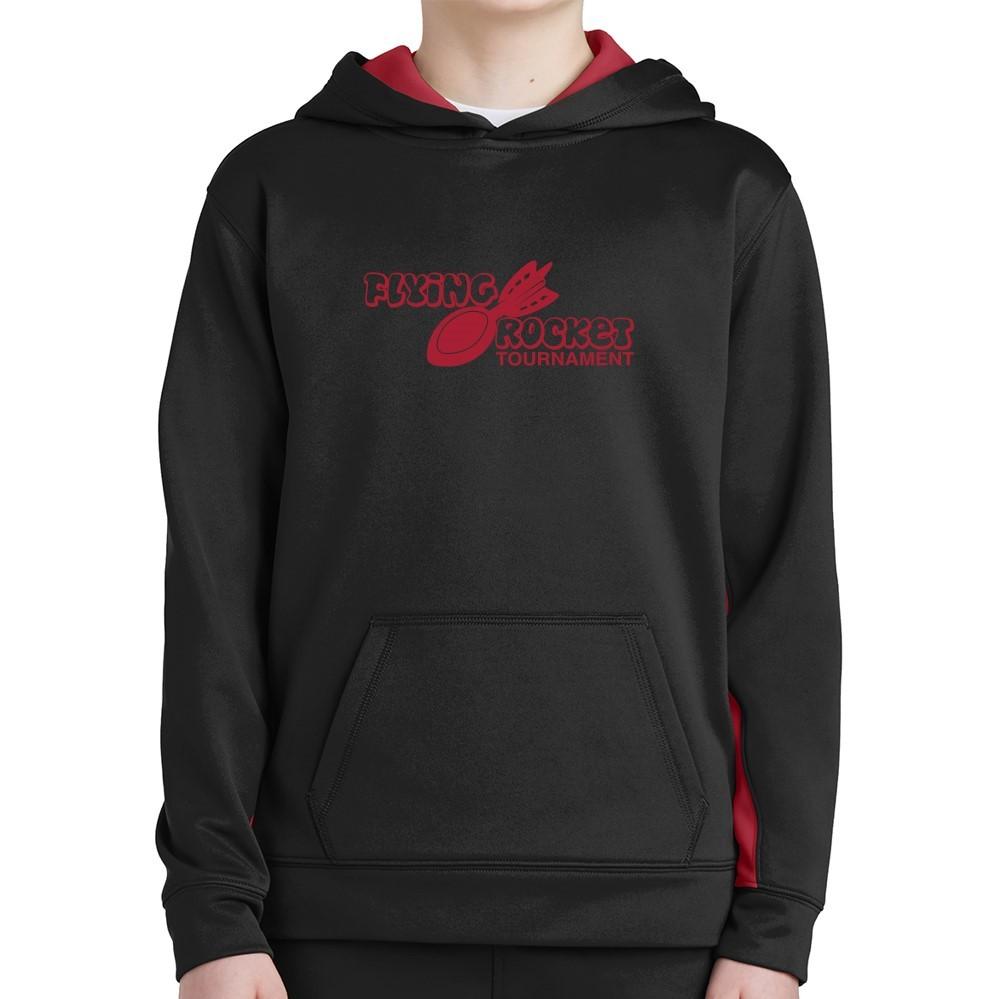Sport-Tek ® Youth Sport-Wick ® Fleece Colorblock Hooded Pullover