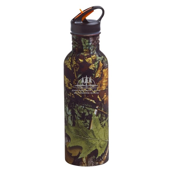 25 Oz. Camo Stainless Water Bottle