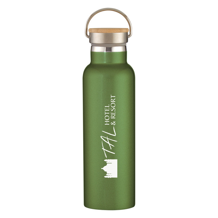 21 Oz. Liberty Stainless Steel Bottle With Bamboo Lid