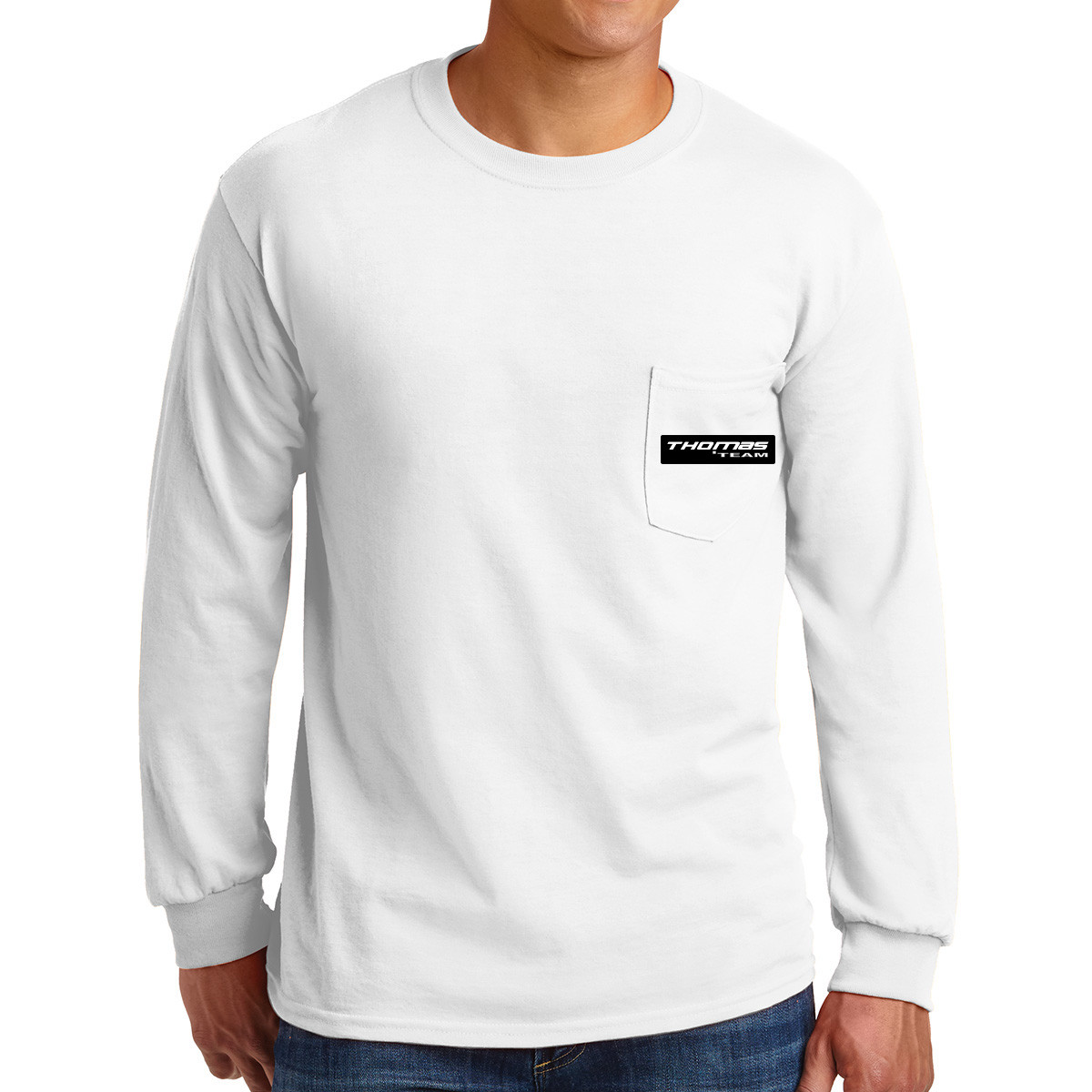 Gildan ® Ultra Cotton ® 100% Cotton Long Sleeve T-Shirt with Pocket